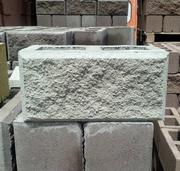 Сплитерный блок рваный с фаской серый